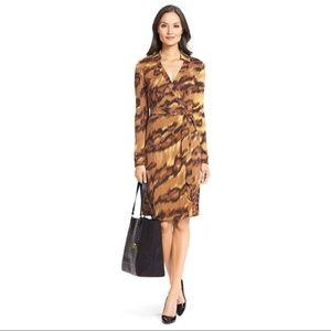 Diane Von Furstenberg Tiger Joanne Wrap Dress